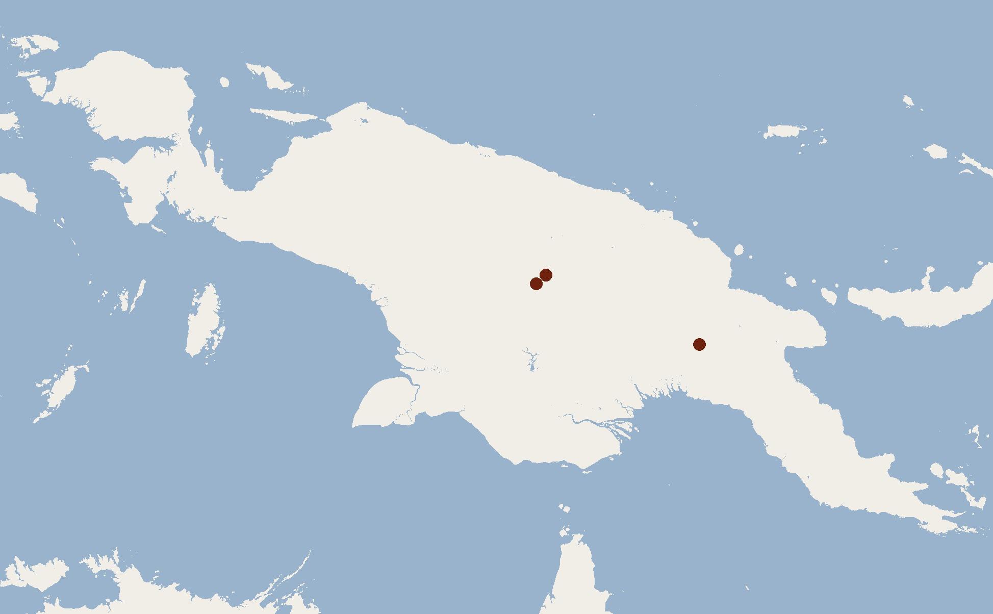 Map of Bulmer's Fruit Bat