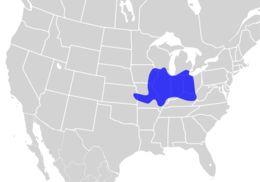 Map of Orangethroat Darter