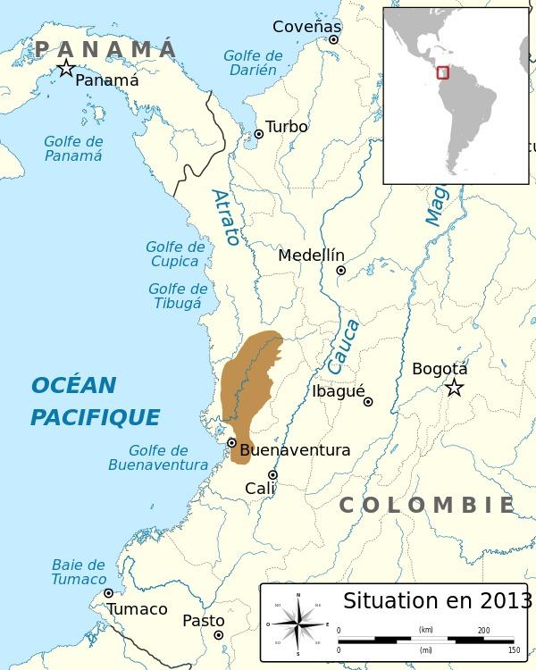 Map of Kokoe Poison Frog