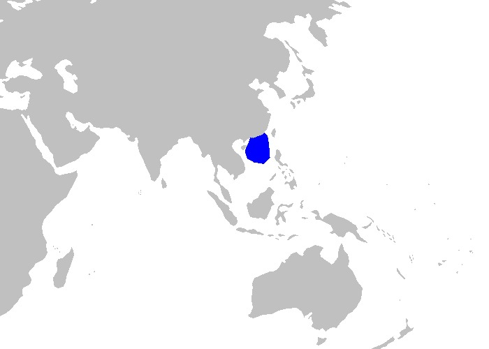 Map of Freckled Catshark