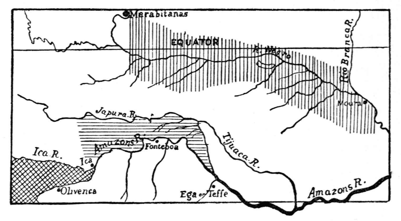 Map of Black Uakari