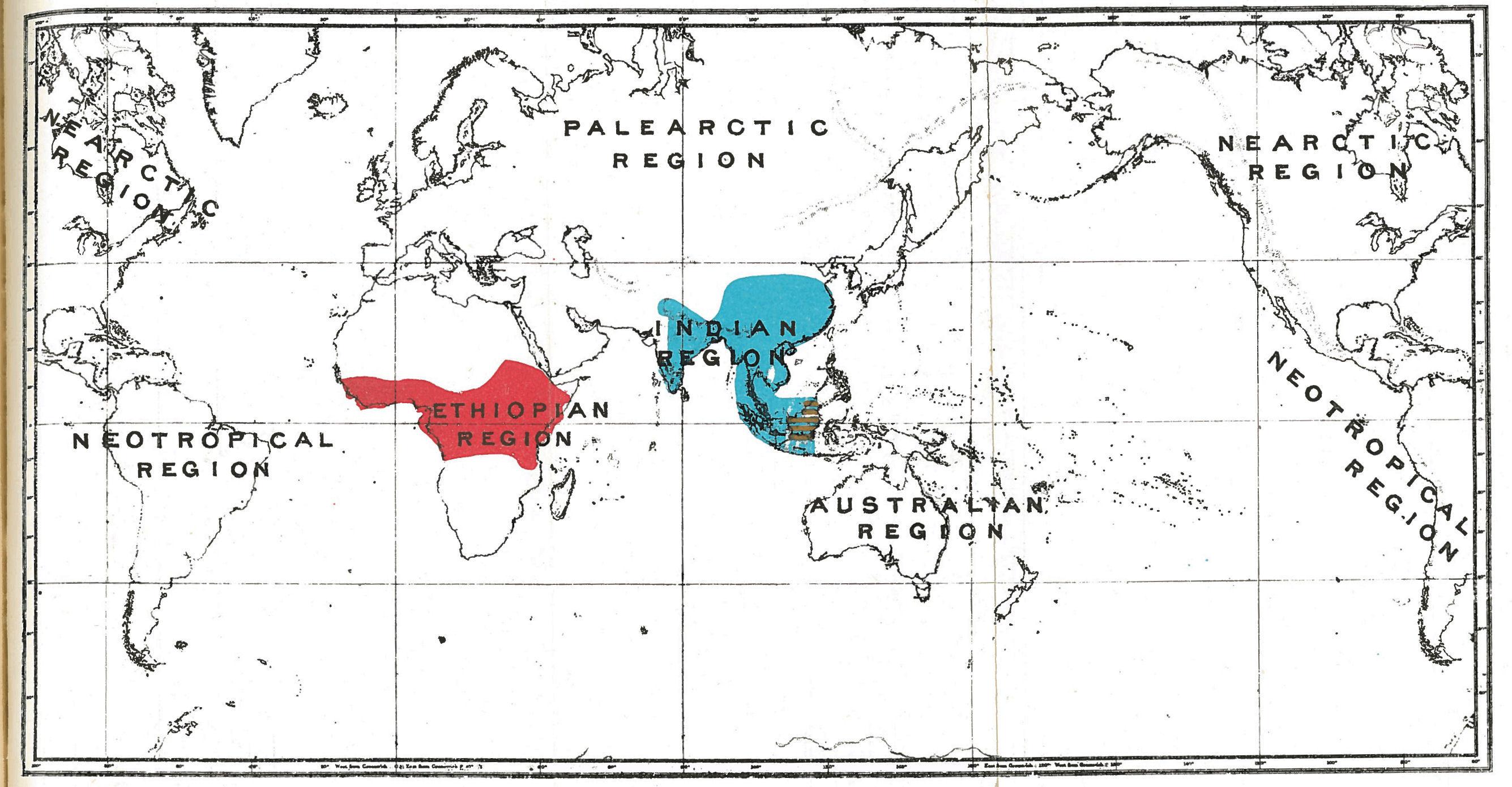 Map of Black-and-white Colobus Monkeys