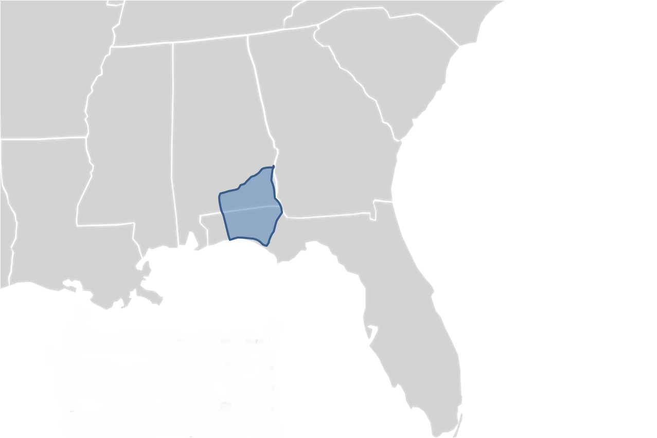 Map of Escambia Map Turtle
