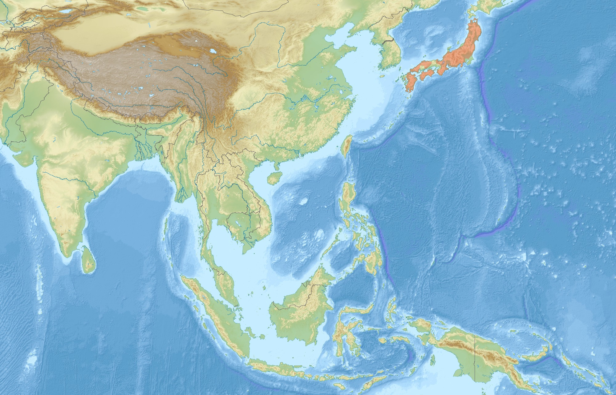 Map of Japanese giant flying squirrel