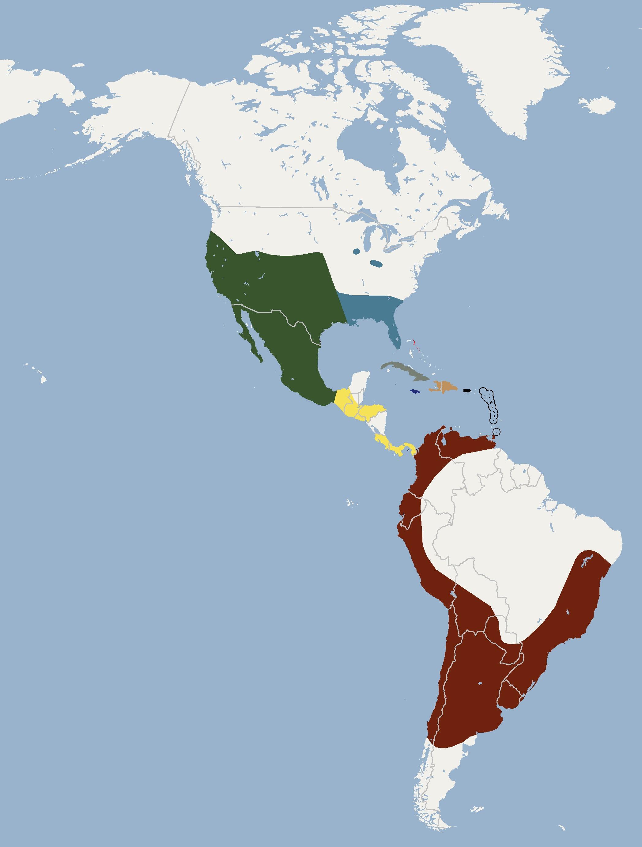 Map of Tadarine Free-tailed Bats