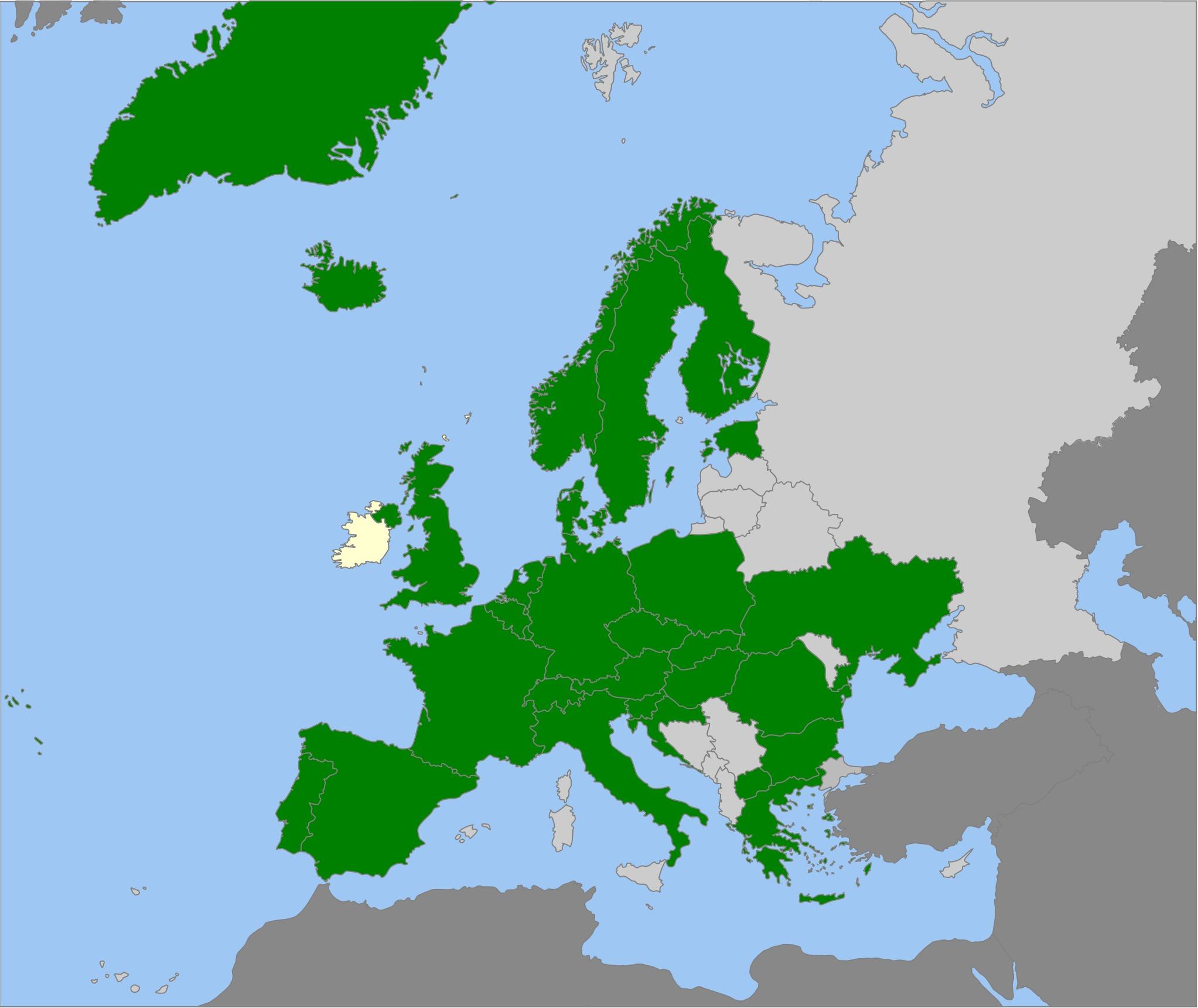 Map of <i>Cortinarius trivialis</i> J. E. Lange 1940