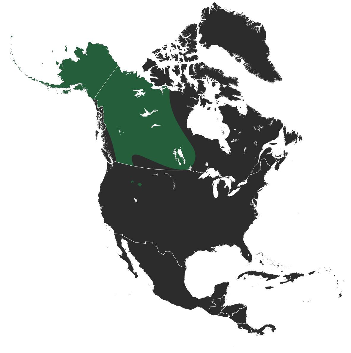 Map of Mackenzie Valley wolf
