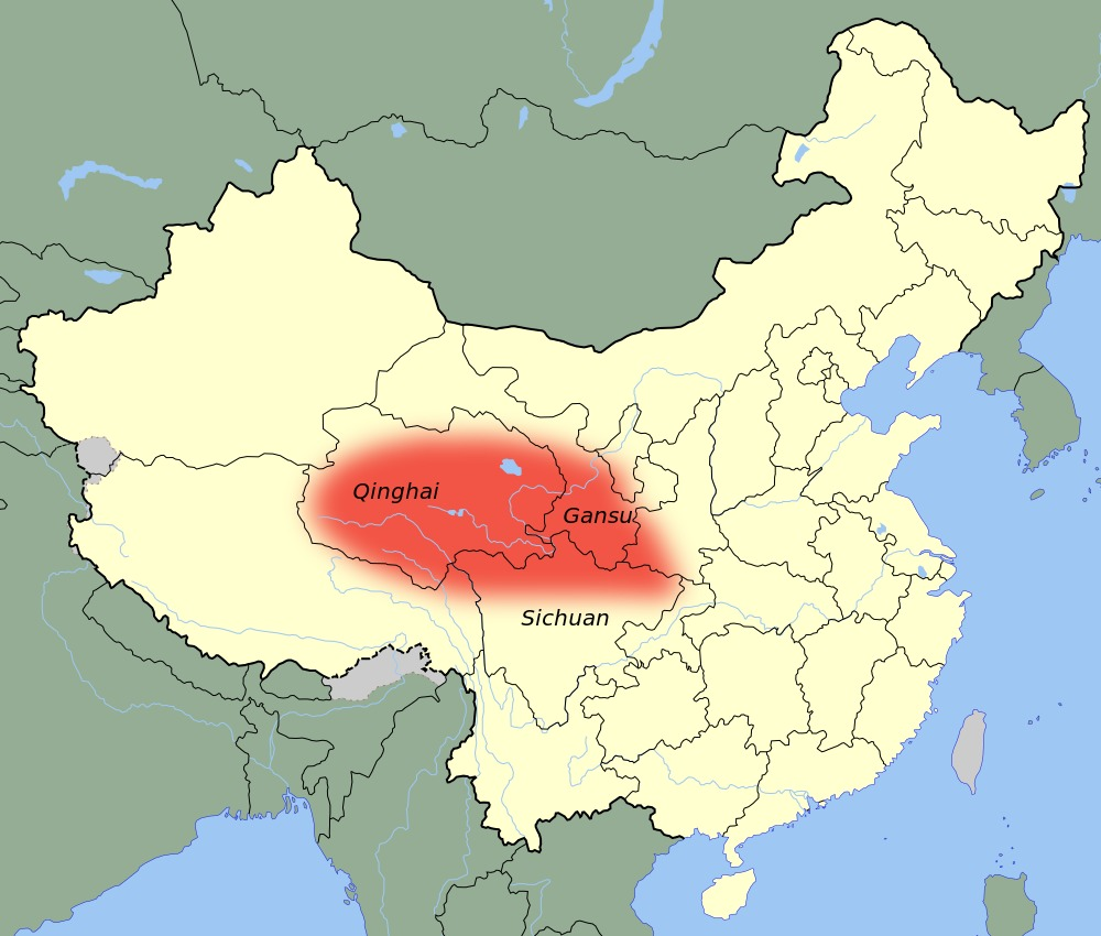 Map of Chinese Alpine Steppe Cat
