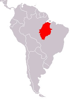 Map of pithecid monkeys
