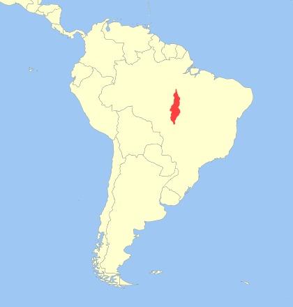 Map of <i>Callithrix emiliae</i>