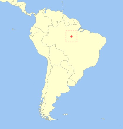 Map of <i>Callithrix leucippe</i>