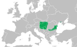 Map of Danube Crested Newt