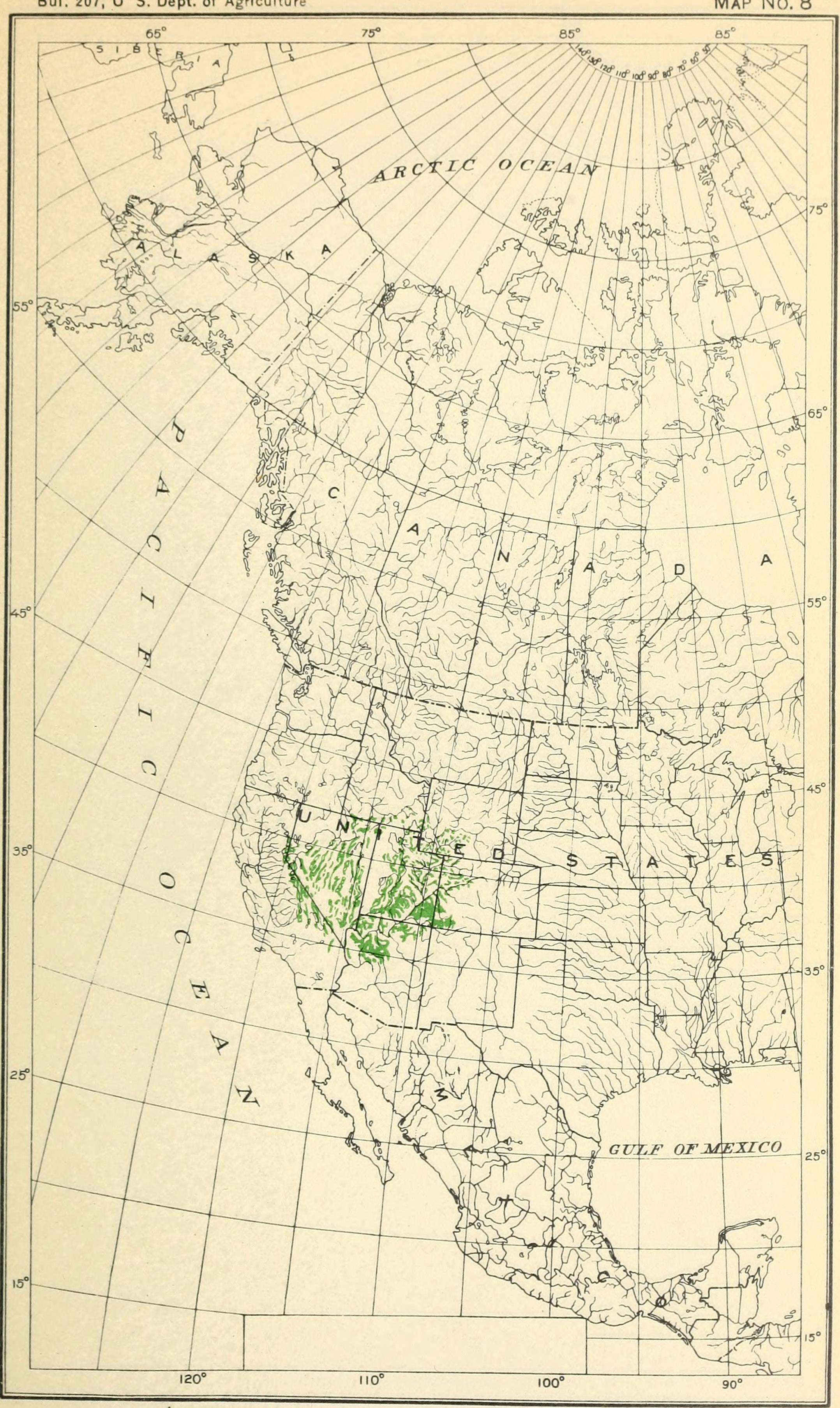 Map of Bigberry Juniper
