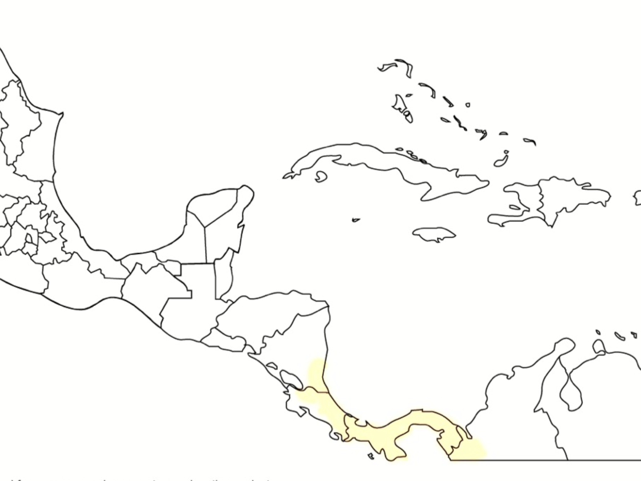 Map of Gold Arrow-poison Frog