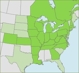 Map of Emerald ash borer