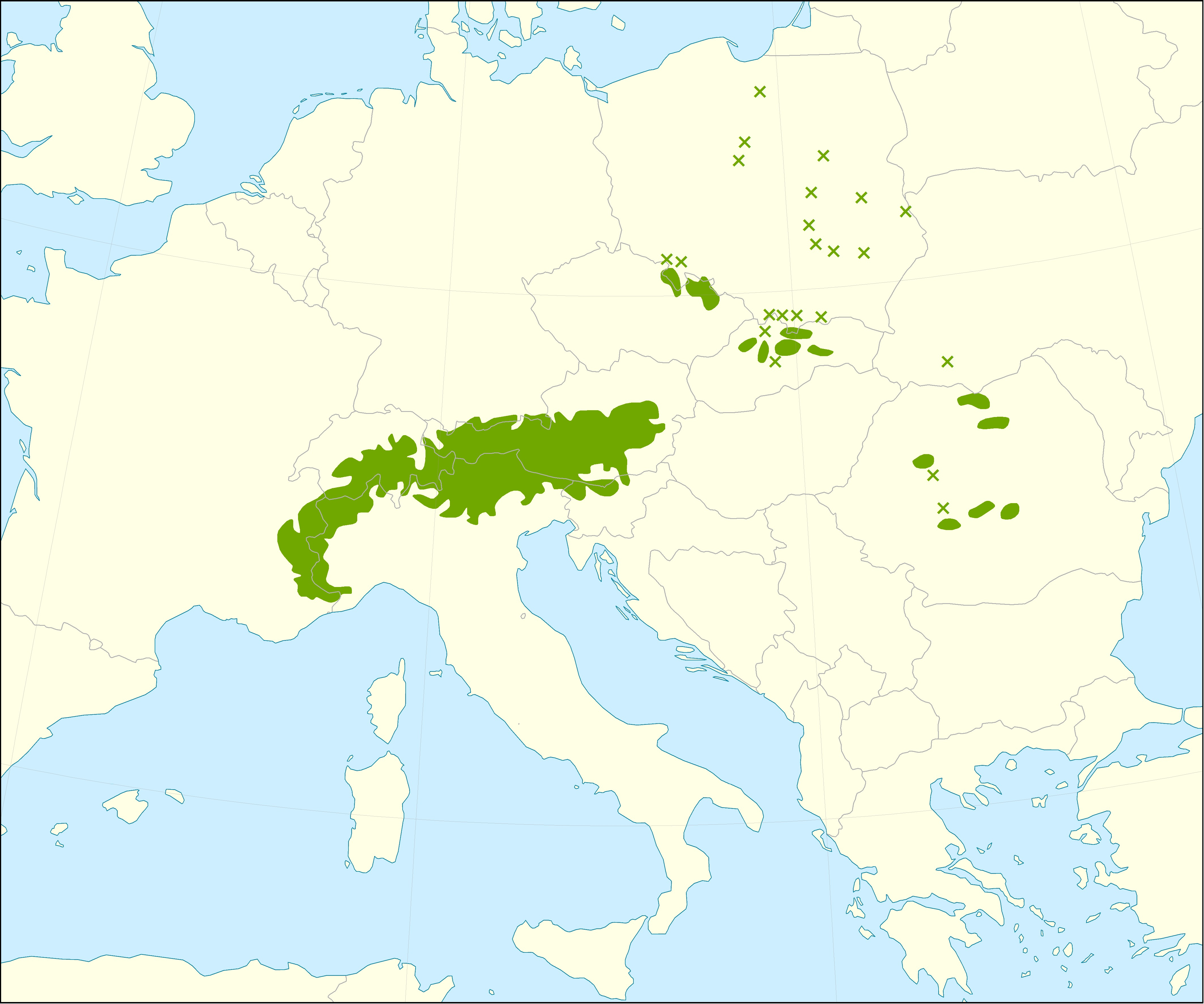 Map of European Larch