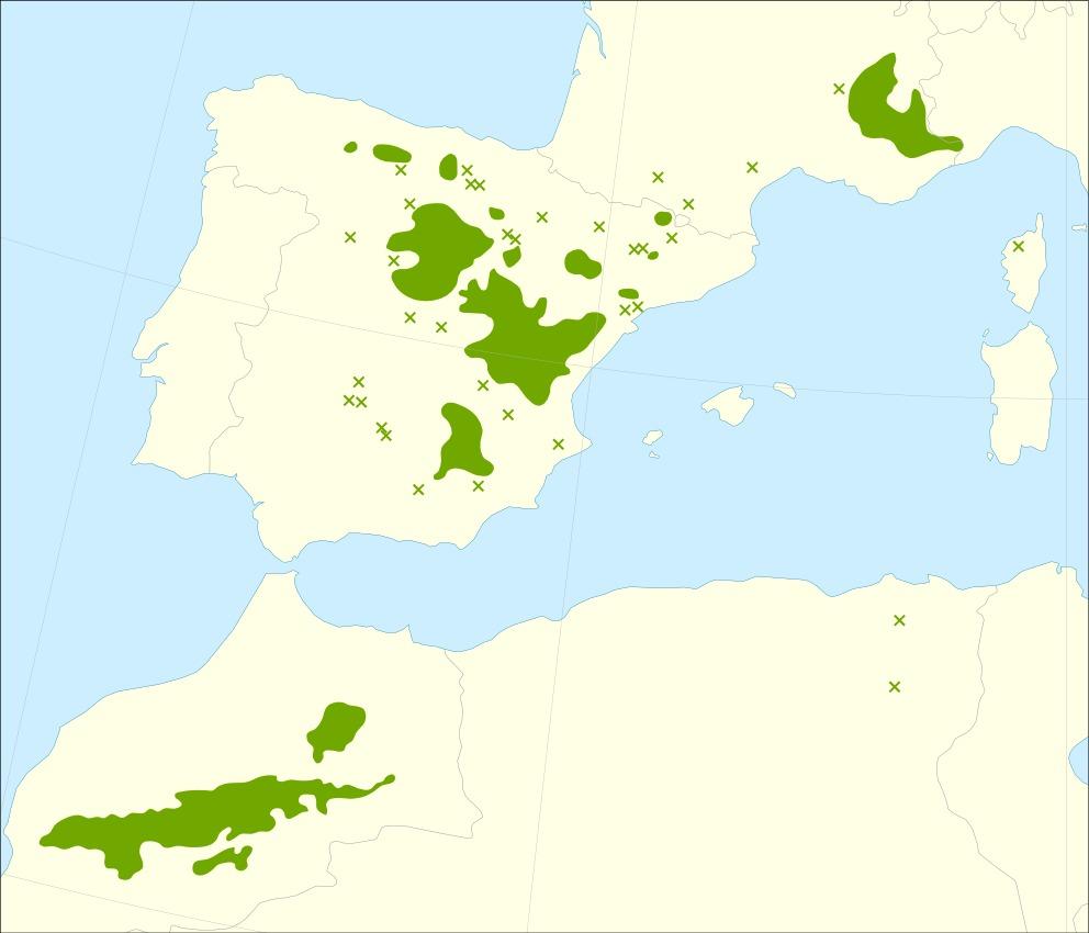 Map of Incense Juniper