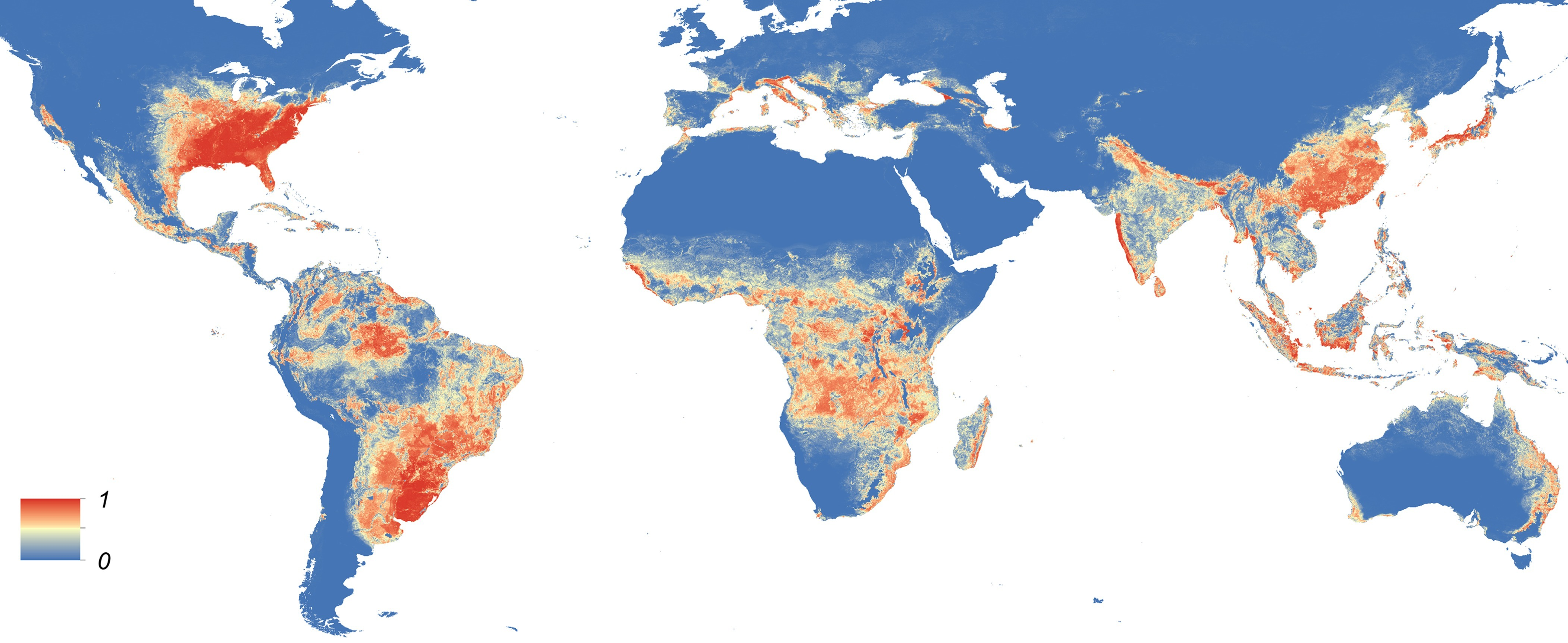 Map of Asian Tiger Mosquito