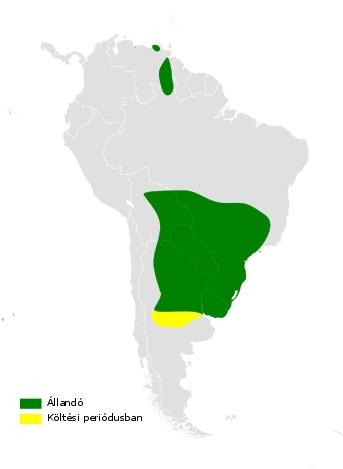 Map of Tawny-headed Swallow