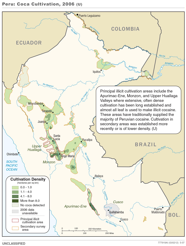 Map of coca