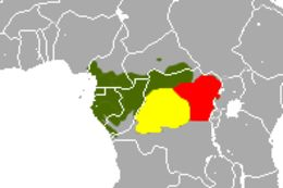 Map of Wolf's Mona Monkey