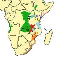 Map of Sykes' monkey