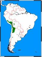 Map of <i>Leopardus jacobita</i>