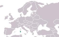 Map of <i>Speleomantes genei</i>