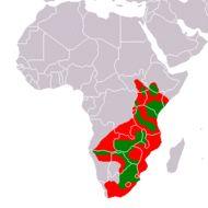 Map of plains zebra
