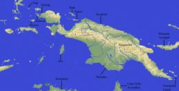 Map of Green tree python