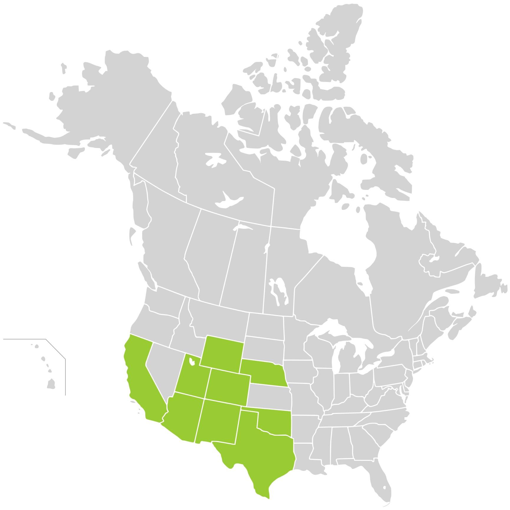 Map of Adonis blazingstar