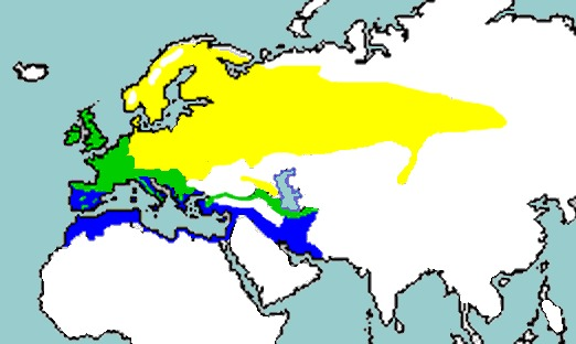 Map of Song thrush