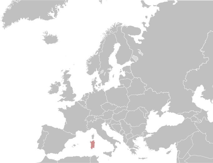 Map of <i>Equus africanus asinus</i>