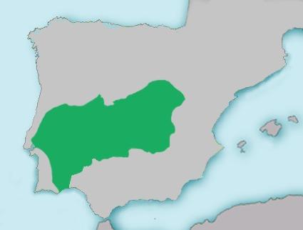 Map of Iberian Barbel