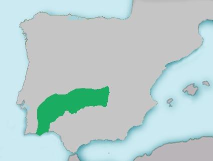 Map of Iberian small-head barbel