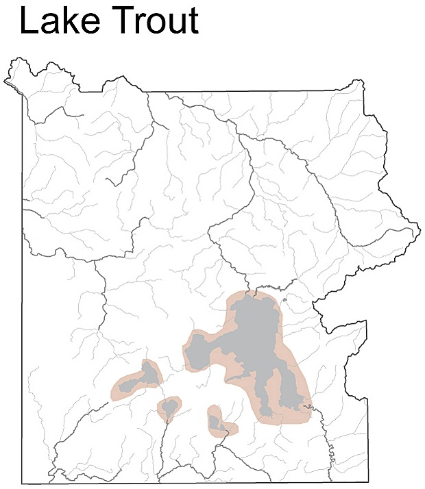 Map of Lake trout