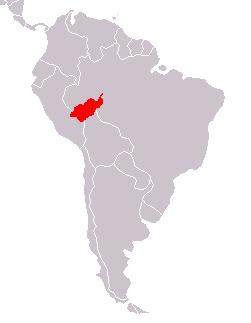 Map of Doubtful Titi Monkey