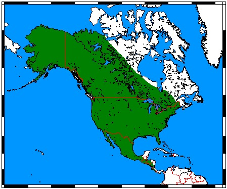 Map of coyote