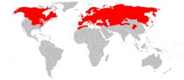 Map of least weasel