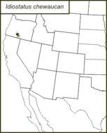 Map of Chewaucan Shieldback