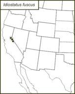 Map of Dark Shieldback