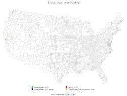 Map of <i>Neduba extincta</i> Rentz & D. C. F. 1977