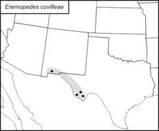 Map of Creosote Shieldback